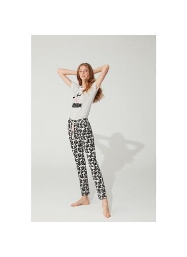 Feyza Pijama Takım Beyaz